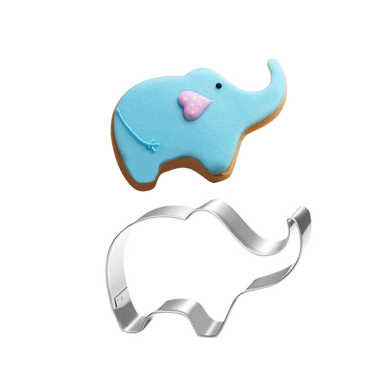 Elephant stainless steel cute cutting biscuit mould cake moulds fruit sugar mold baking tools