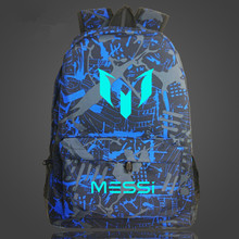 شحن مجاني ميسي حقيبة الظهر كرة القدم الرجال الفتيان حقيبة هدية للسفر الاطفال على ظهره Mochila Bolsas Escolar