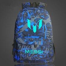 Messi mochila à prova de água unissex, bolsa para viagem, meninos, crianças