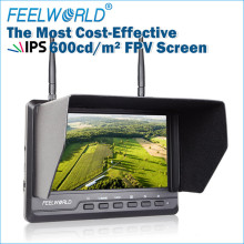 Feelworld 7 Inch 1024×600 IPS Ultra-thin FPV Monitor for Drone with Built-in Battery Dual 5.8G 40CH Diversity Receiver FPV720