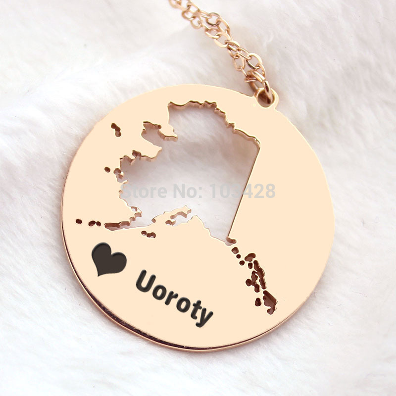 Gorgeous state pendant necklaces gorgeous state pendant necklaces diy america state necklaces ak state pendant necklace rose gold diy america aloadofball Gallery