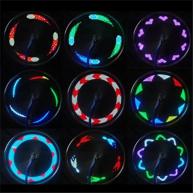 Hot Sale 14 LED Cycling Bicycle Bikes Wheel Signal Tire Spoke Light For Ciclismo 32 Changes New Luces Led Bicicleta Bike Light