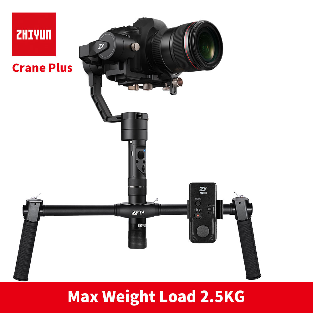 Zhiyun Crane plus 3-axis Handheld DSLR Stabilizer Handheld Gimbal Max payload 2.5kg for Mirrorless DSLR Cameras zhiyun crane 2 3 axis handheld gimbal stabilizer for dslr cameras sokani sk 5 5 4k hdmi monitor for sony canon etc cameras