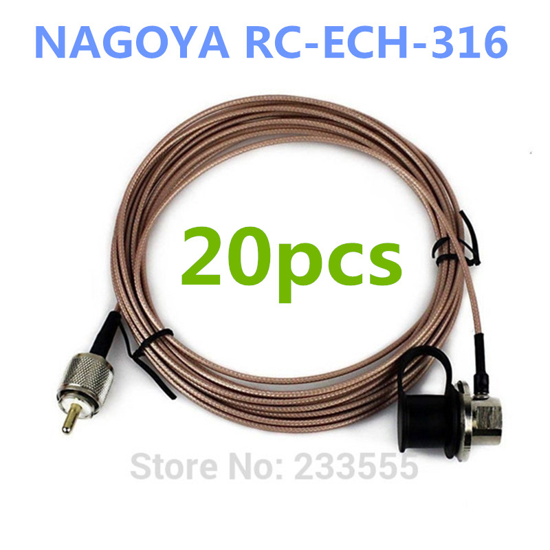DHL Free shipping 20pcs New NAGOYA RC-ECH-316 5 Meter Cover Extension Cable for Walkie <font><b>Talkie</b></font> Mobile Antenna