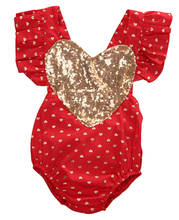 Pudcoco Summer Toddler Infant Sequins Love Heart Newborn Baby Girl  Bodysuit Jumpsuit Outfits One-pieces