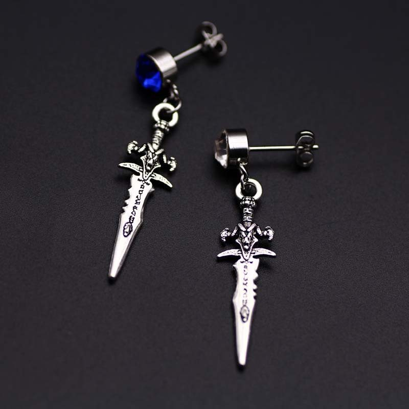 Original unique Mens single Spike stainless steel earring,guys jewellery,accessory, hipster, grunge style, dagger earrings men