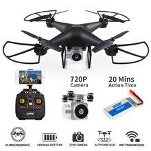 Высота удержания Радиоуправляемый Дрон дистанционное управление Quadcopter с 720 P Wi Fi FPV системы Вертолет камеры 20 минут Профессиональный Дрон Квадрокоптер
