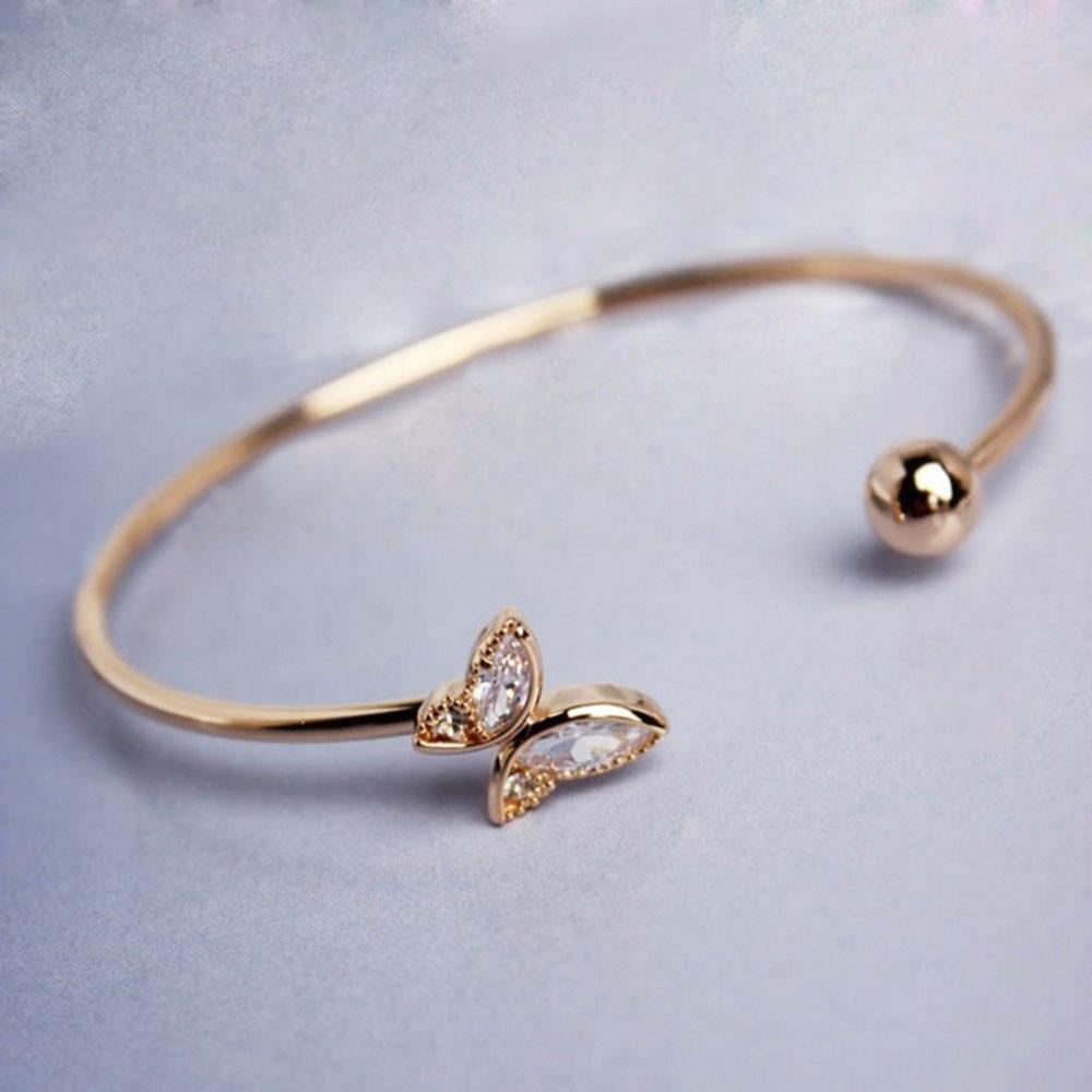 Bracelets & Bangles Flight Tracker Fashion Anchor Bracelet For Women Elegant Elastic Popcorn Chain Crystal Gold Silver Bracelet 2019 Fashion Jewelry Gift New 3pcs