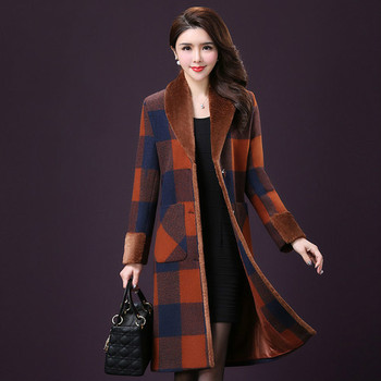Autumn Korean Version Women Wool Coat  New Styles Winter Long Sleeve And Single-breasted Female Work Wear Fashion Slim Tops