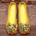 Luxo Genuína Mulheres De Couro Apartamentos Elegantes Mulheres Fundo Macio Sapatos Rasos Senhoras Mocassins Condução Sapatos Mocassins Casuais SNE-676