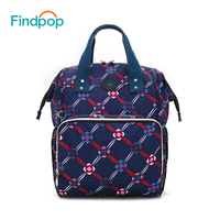 Findpop Large Capacity Backpacks Women Mochilas 2018 New Floral Printing Backpacks For Women 3 Color Anti Theft Canvas Backpacks