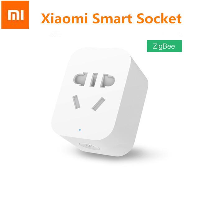 En stock original xiaomi mi xiaomi teléfono inteligente zigbee enchufe temporizador de control remoto inalámbrico socket inteligente con eu/au/reino unido/ee. uu. adaptador