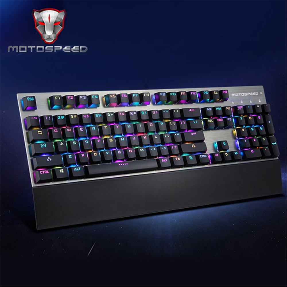 Motospeed CK108 Black USB Professional Wired Gaming Keyboard Gamer Qwerty With 18 Backlight For Desktop Laptop Gaming Keyboard motospeed s900 usb 2 0 wired 2000dpi gaming mouse keyboard black