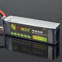 Check Discount 1pcs Lion Power Lipo Battery 11.1V 2800Mah 35C MAX 50C T Plug for RC Car Airplane Align TREX 450 Helicopter Part