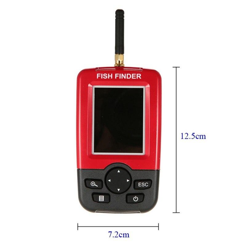 Offre spéciale Alarme 100 M Portable Sonar LCD Sans Fil Fish Finder leurre De Pêche Sondeur De Pêche Finder sondeur Anglais - 4