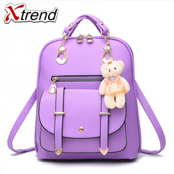 Xtrend Brand Woman Bag Anti Theft Backpack Leather Fashion Female Backpacks Durable Preppy Style Casual Teenage School Girl Bags