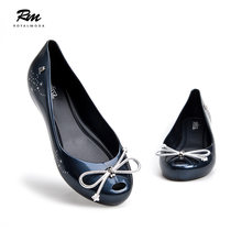 high quality melissa odabash shoes for women with star bowktie melissa  adulto navy blue flat sandals c9d9009d65e2