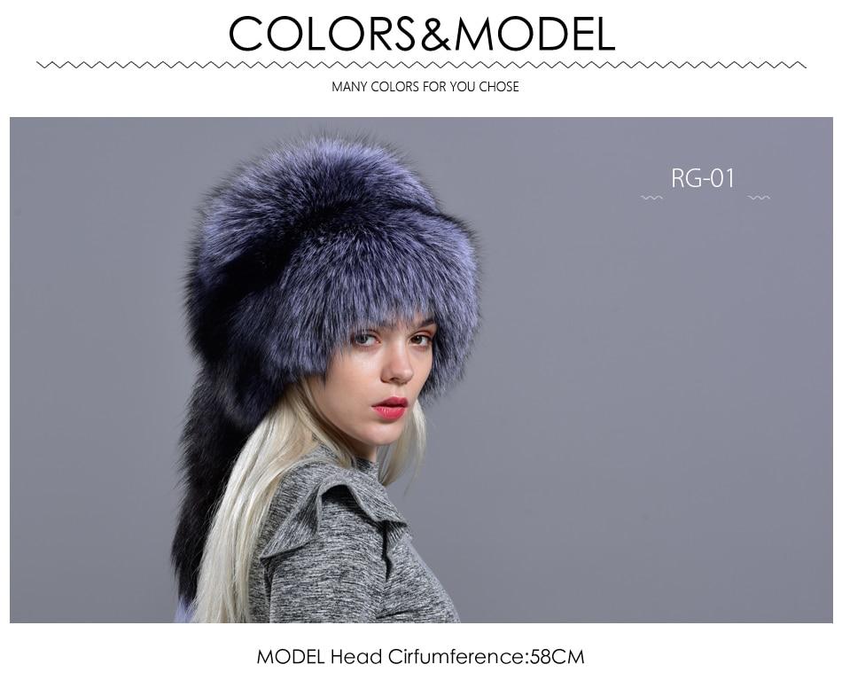 Chapeau pour femmes hiver mode élégant russe épais chaud