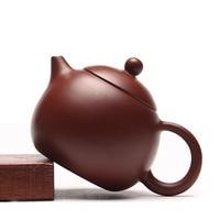 Handgemachte Chinesische Yixing Tee Set Drachen Ei Teekanne Zisha Hu Liao Wu Qiang Dahongpao Schlamm Kung Fu Tee Topf 230ml Lila Ton Teekanne|teapot yixing|teapots tea setsteapot set -