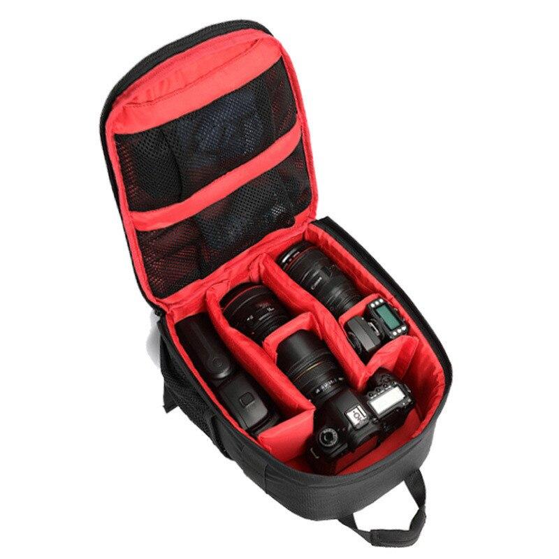 Waterproof Digital DSLR Photo Padded Backpack w/ Rain Cover Multi-functional SLR Camera Soft Bag Video Case