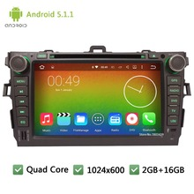Quad core Android 5.1.1 2Din 8″ DAB+ RDS 1024*600 WIFI Car DVD Player Radio Stereo PC Audio Screen For TOYOTA Corolla 2006-2011