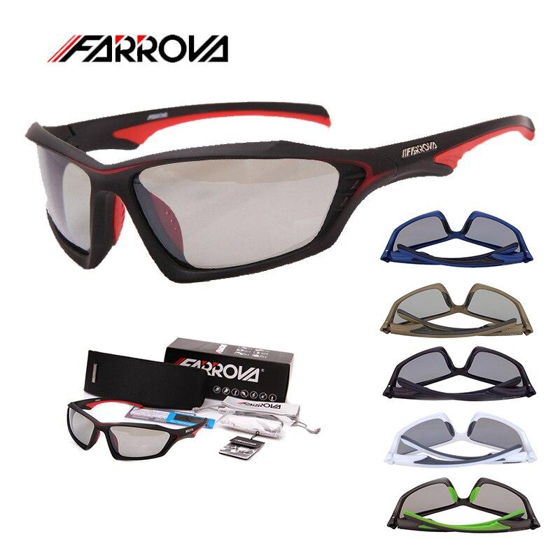 FARROVA photochromique polarisé 2 en 1 Sport lunettes de soleil homme femme cyclisme lunettes vtt vélo course lunettes UV vélo lunettes