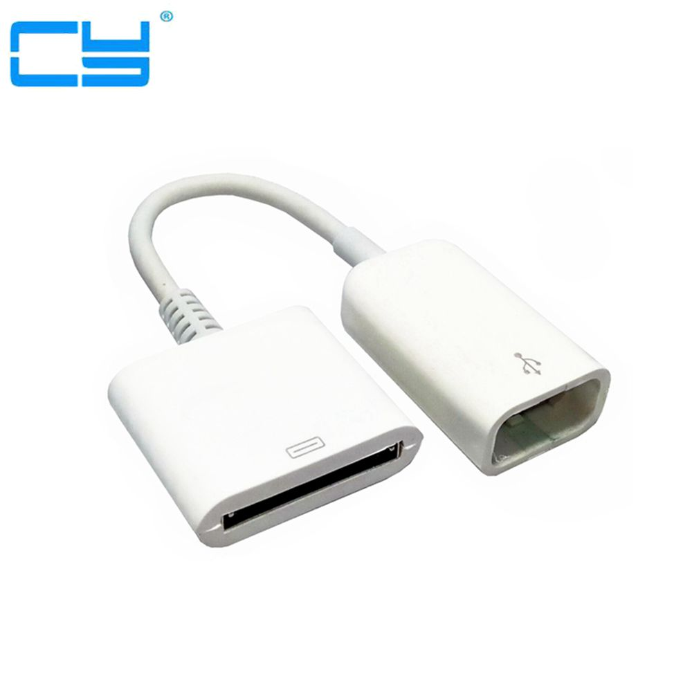 30Pin Fêmea para USB Fêmea cabo de Dados de Sincronização de Carregamento Cabo Adaptador Para o iphone 4 4S Preto/Branco