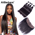 Cheap Malaysian Lace Frontal Closure With Hair Bundles 100% Human Hair 13*4 Straight Hair With Ear to Ear Lace Frontal Closure