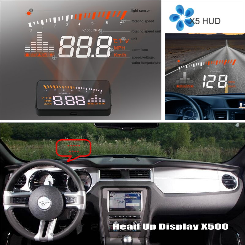 Car HUD Safe Drive Display For Ford Mustang GT / CS 2005~2014 - Refkecting Windshield Head Up Display Screen Projector комбо для гитары fender mustang gt 200