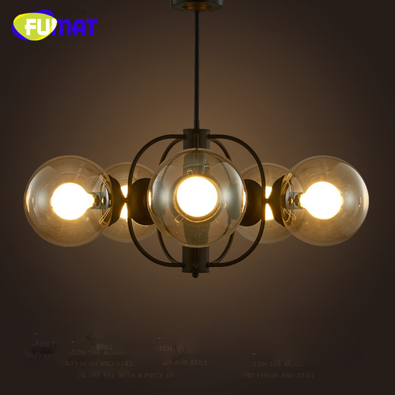 Nordic Pendant Lamps Creative Retro Glass Light Industrial Iron Dinning Room Lamp Bedroom Living Room Modo Chandeliers Dia78cm tiffany glass pendant lamps fashion style 3 lights living room lamps corridor light bedroom lamp dia 56 cm h 65 cm