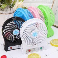 Taşınabilir 5W açık LED ışık Fan hava soğutucu masa USB Fan olmadan 18650 pil