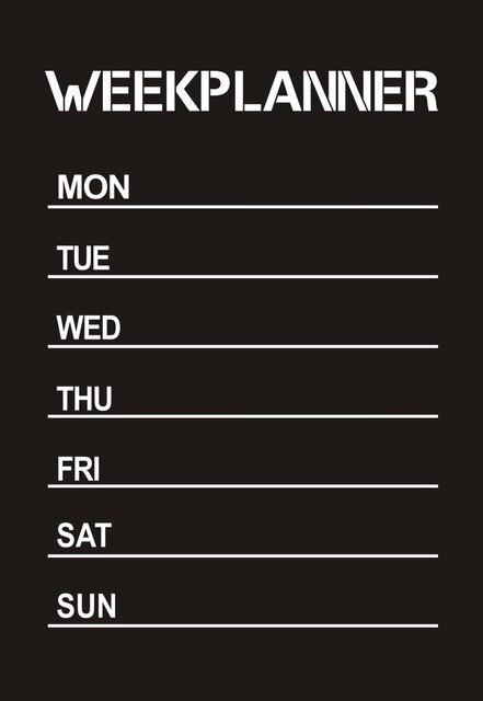 weekly planner calendar memo chalkboard blackboard vinyl wall