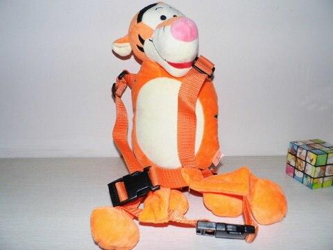 Голдбаг животных 2 в 1 жгут Тигр приятель плюшевая игрушка-Рюкзак Детские ремни безопасности жгут детская школьная сумка - Цвет: Tiger