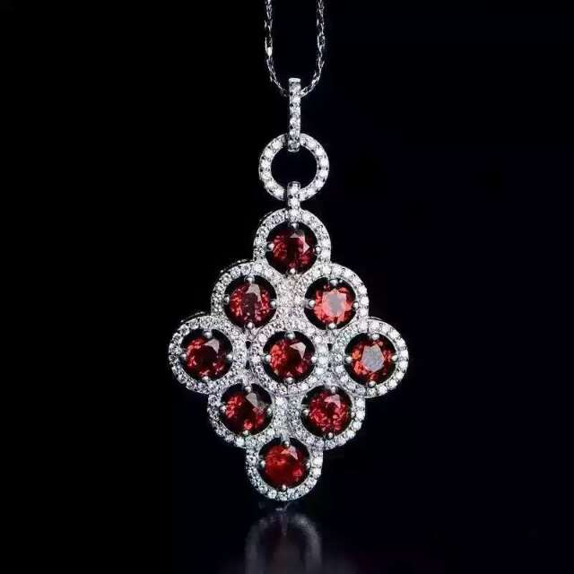 Buy large garnet pendant and get free shipping on aliexpress aloadofball Images