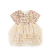 Girl Dress For Infant Kids Baby Girls Party Wear Layered Dresses Birthday Outfits 1-6Year Children Clothing 1-6Y