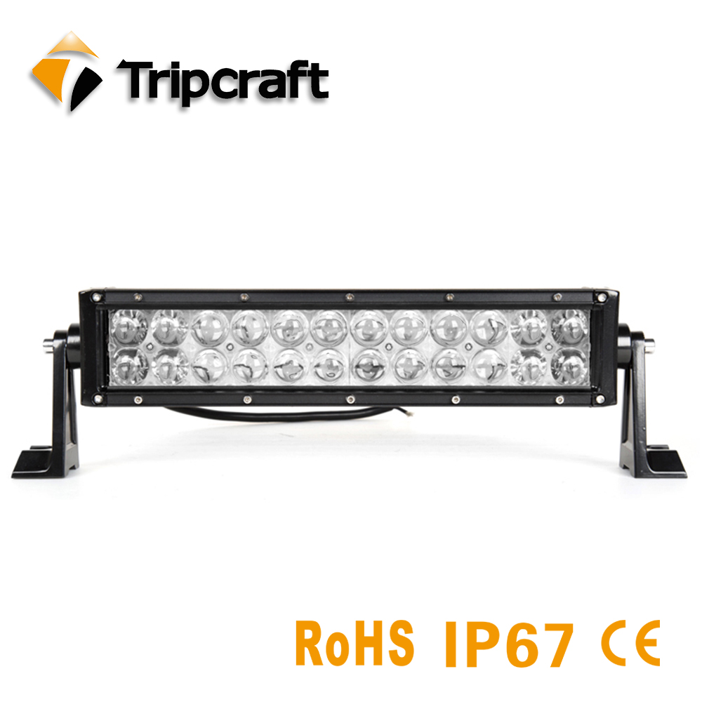 TRIPCRAFT 4D 12inch 72W LED Work Light Bar for Driving Car Tractor OffRoad 4WD 4x4 Truck SUV ATV Combo beam with factory price tripcraft 108w led work light bar 6500k spot flood combo beam car light for offroad 4x4 truck suv atv 4wd driving lamp fog lamp