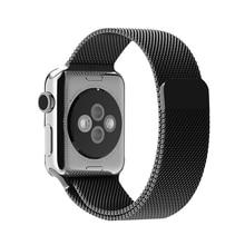 Роскошные высокое качество Миланской Петли группа для apple watch 42 мм 38 мм Ссылка Браслет Из Нержавеющей Стали ремешок группы для apple watch 2(China (Mainland))