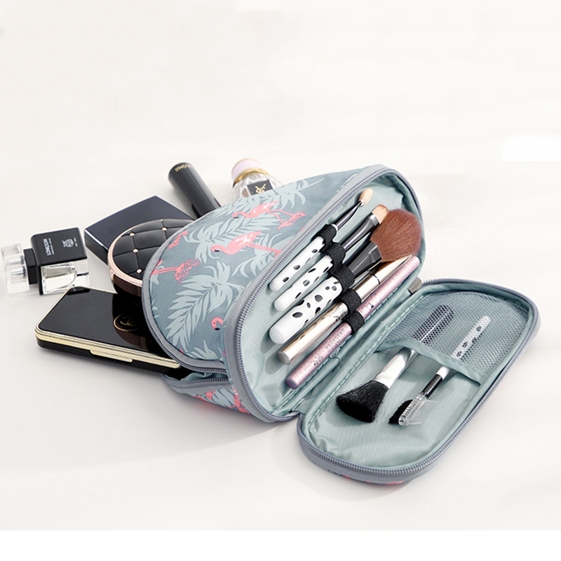 Cosmetic-Bag Travel-Organizer Flamingo Toiletry-Kits Necessaire-Functional-Bag Big-Capacity