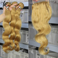 #27 Honey Blonde Bundles With Closure Body Wave Rosa Products 3 Bundles Brazilian Hair Weave Bundles With Honey Blonde Closure