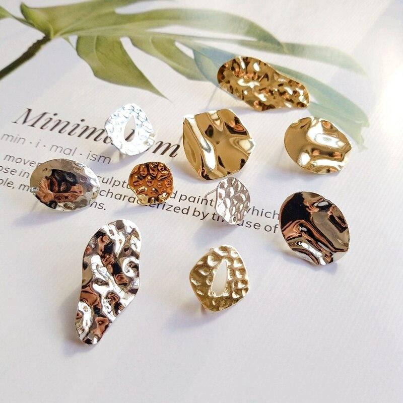 Earring-Accessories Pendant Needle-Material DIY American European Metal Embossed Texture