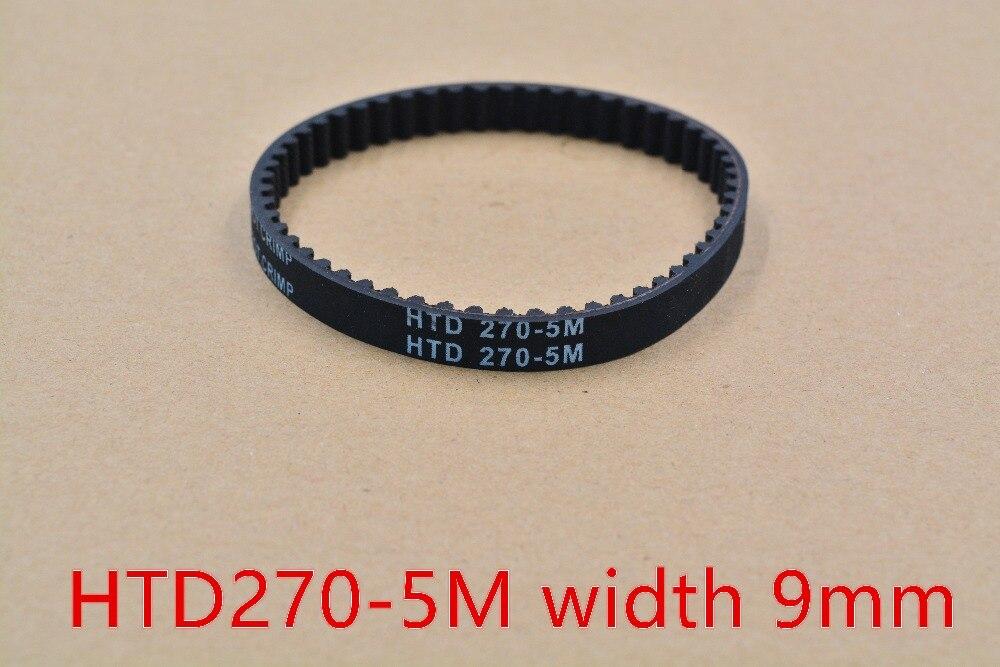 b7d7e23373f9 3d imprimante ceinture en boucle fermée en caoutchouc HTD 5 M courroie de  distribution 54 dents 270mm longueur 9mm largeur HTD270-5M-9 1 pcs