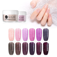 UR SUGAR 5ml Pink Glitter Dipping Nail Powder Holographic Pigment Dust Dips Natural Dry Without Lamp Cure Decoration DIY
