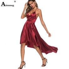 2019 Elegant Zipper Sexy Party Dress Spaghetti Strap Maxi Dress Backless Strappy Women Mujer Bodycon Lady V-neck Slit Long Dress