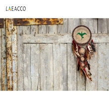 Laeacco Retro Baby Portrait Old Wooden Board Dreamcatch Feather Photo Backgrounds Customized Photography Backdrops Photo Studio laeacco old steam train station landscape baby photo backgrounds customized digital photography backdrops for photo studio
