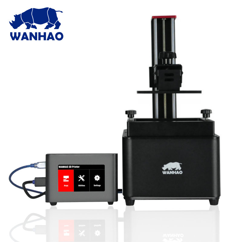 2018 New Duplicator 7 V1.5 LCD SLA DLP 3d printer , WANHAO factory dental dentist jewelry Resin 3D Printer + D7 USB Box