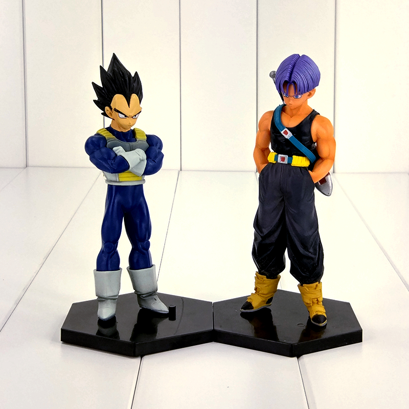 15cm Anime Dragon Ball Z Vegeta Trunks Figure Toy Father