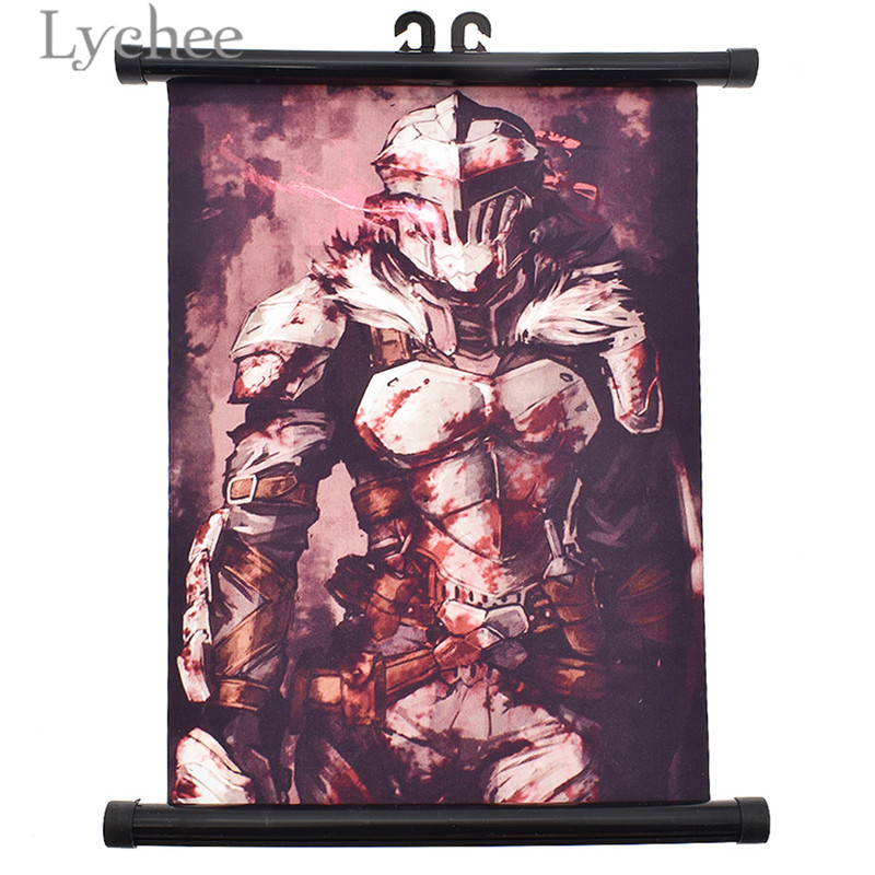 Lychee Anime Goblin Slayer Scroll Poster Cartoon Characters Wall Scroll Painting Home Bedroom Decoration Anime Fans Collection