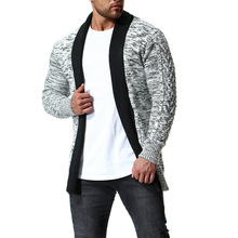 2018 winter cardigan cashmere sweater men good quality long sleeve patchwork casual knitted