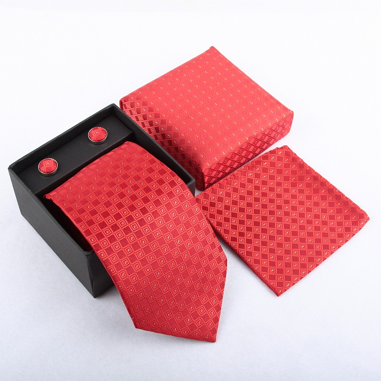Мужская мода высокого качества захват набор галстуков галстуки запонки шелковые галстуки Запонки карманные носовой платок - Цвет: 15