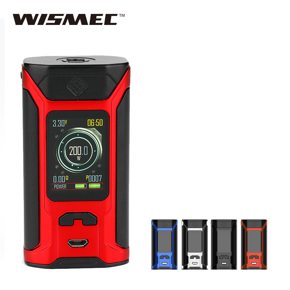 200W WISMEC SINUOUS RAVAGE230 Box MOD Fit Gnome Evo Tank Tank Hugo Power E-cigarette TC Box Mod No 18650 Battery Original